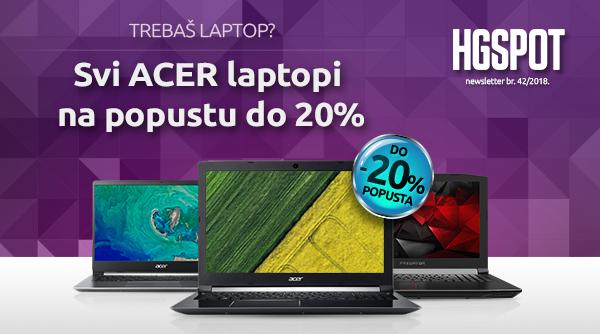 Potraži sve ACER laptope na popustu do 20%