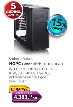 Stolno računalo HGPC Gamer Black 810105T8S2D