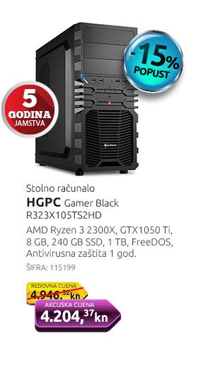 Stolno računalo HGPC Gamer Black R323X105TS2HD