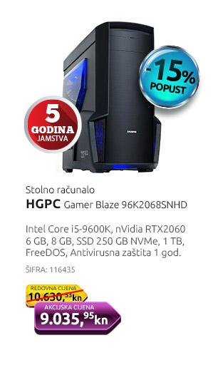 Stolno računalo HGPC Gamer Blaze 96K2068SNHD