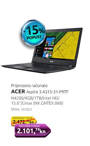 Prijenosno računalo ACER Aspire 3 A315-31-P9TF