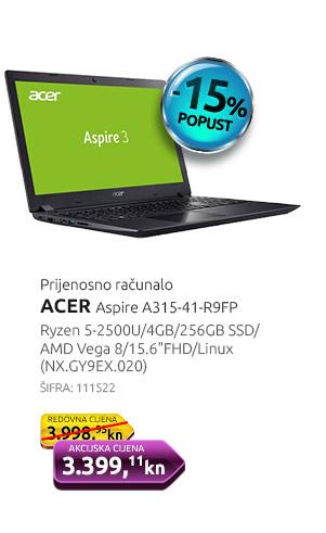 Prijenosno računalo ACER Aspire A315-41-R9FP