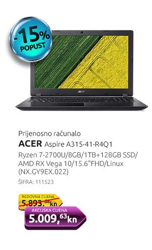 Prijenosno računalo ACER Aspire A315-41-R4Q1