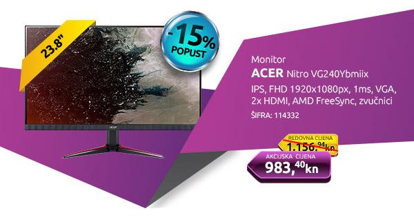 Monitor ACER Nitro VG240Ybmiix