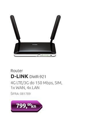 Router D-LINK DWR-921